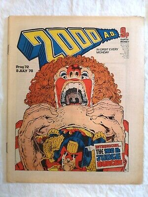 £10 • Buy 2000AD Prog 72 1978 - 2nd Banned Issue (due To Judge Dredd Story)