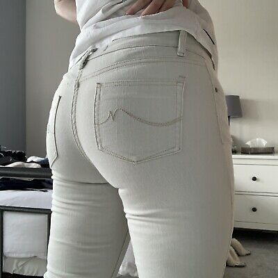 £8 • Buy Cream 'Relaxed' Next Low Rise Skinny Jeans - Size 10R