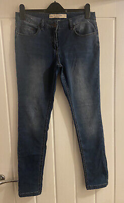 £6 • Buy Women's Next Relaxed Skinny Jeans Size 12 R Regular Leg Current In Next Blue
