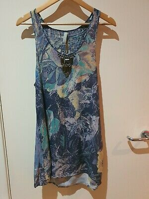 AU24.23 • Buy Urban Outfitters Print Beaded Summer Tank Dress Size 10