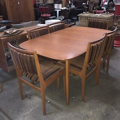 AU800 • Buy Mid Century Modern  Vintage Extendable Dining Table 6 & 8 Seater