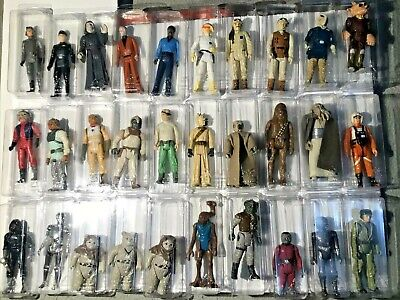 $ CDN398.42 • Buy Vintage Star Wars Action Figures, 1980's A Total Of 30 In Protective Cases