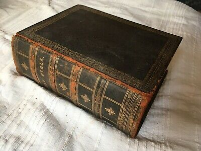 £55 • Buy Cassell Illustrated Family Bible C19th Century Antique Collectible