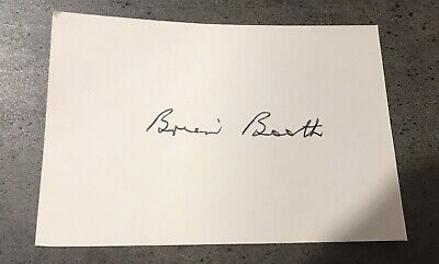 AU14.95 • Buy Brian Booth Signed White Index Card With COA.