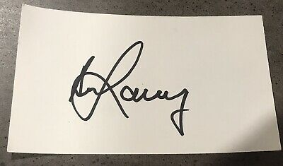 AU17.95 • Buy Bill Lawry Signed White Index Card With COA.