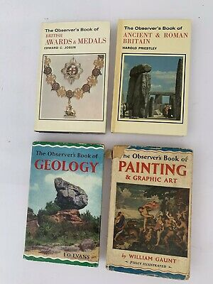 £4.99 • Buy 4 Observer's Books, Geology, Painting, Awards And Medals, Ancient &Roman Britain