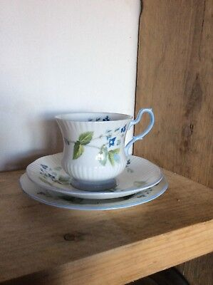 £6.50 • Buy Rosina China Co Cup 3 X3 Saucer 5.1/2  Plate 6.1/4 Inch Queens Fine Bone China