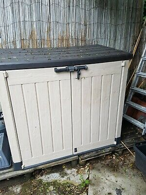£62 • Buy Keter Store-It Out Max Outdoor Plastic Garden Storage Shed Beige& Brown Preowned
