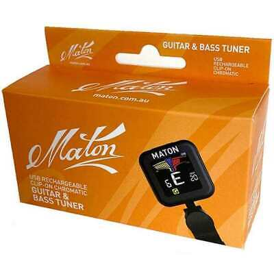AU30 • Buy Maton USB Rechargeable Clip-On Guitar & Bass Tuner