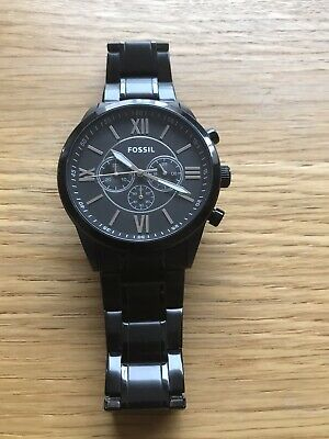 View Details Black Fossil Watch Mens Used • 30.00£