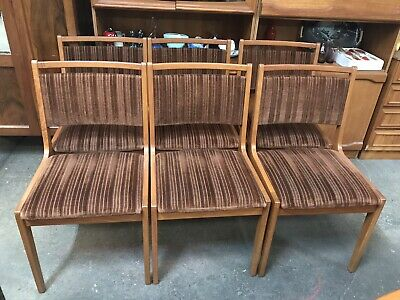 AU750 • Buy Set Of 6 Mid Century Modern Vintage Dining Chairs