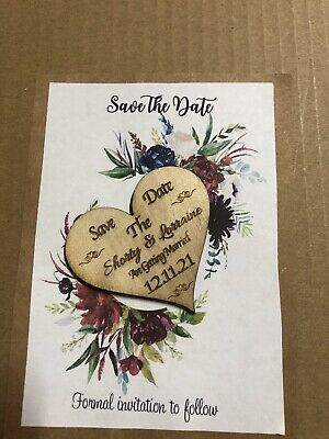 AU38.95 • Buy SALE!!Wedding  Save The Date  Fridge Magnets -  X 60pc With Cards + Envelopes