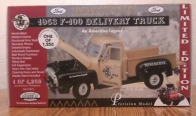 AU53.38 • Buy Gearbox Collectible Limited Edition 1953 F-100 Ford Winchest Delivery Truck 1:18