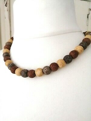 £4.50 • Buy Wooden Beaded Necklace Natural Ethnic Boho Tribal Festival Fashion Jewellery