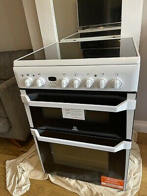 £150 • Buy Indesit Advance ID60C2WS Electric Cooker With Ceramic Hob - White