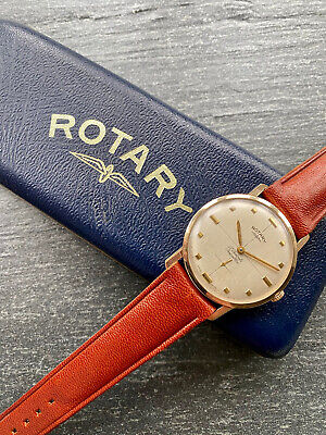 £51 • Buy VINTAGE ROTARY 9K Solid Gold Gents Watch