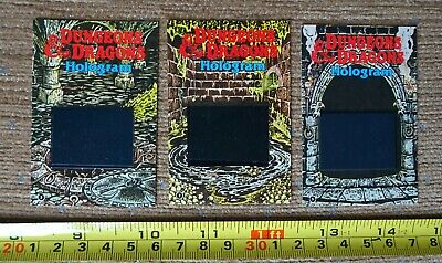 AU21.22 • Buy Shreddies Cereal Dungeons And Dragons Holograms 2 3 5 1986 LOT OF THREE