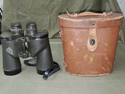 $80.75 • Buy WWII M17A1 Binoculars With Leather Case