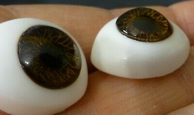 £15.90 • Buy 20mm BR OVAL GLASS DOLL EYES, EYES For REBORN , ANTIQUE DOLL, Dollmaking