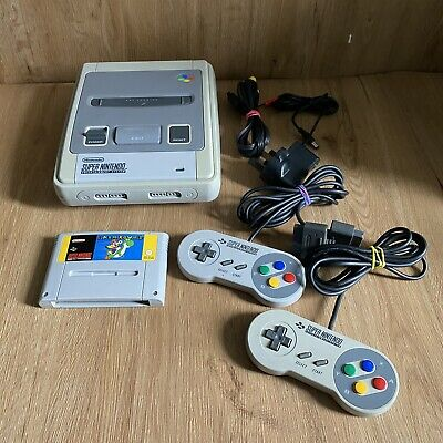 £84.99 • Buy Super Nintendo SNES Console & Mario Game Bundle - PAL - Tested And Working