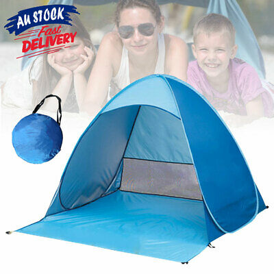 AU24.95 • Buy 4 Person Pop Up Hiking Camping Shelter Carry Bag Beach Tent Portable ACB#