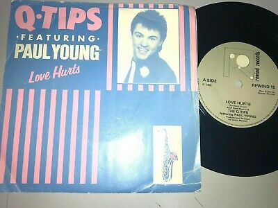 £0.85 • Buy Q Tips  (featuring Paul Young) ''love Hurts'' Picture Sleeve 7  Record