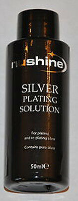 £10.99 • Buy NUSHINE SILVER PLATING SOLUTION -PLATE METALS WITH REAL SILVER -Cheapest On Ebay