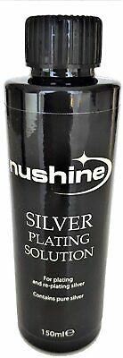 £13.99 • Buy NUSHINE SILVER PLATING SOLUTION -PLATE METALS WITH REAL SILVER -Cheapest On Ebay