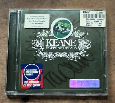 £4 • Buy Keane Signed Autographed Hopes And Fears Cd Album Special Edition 2004