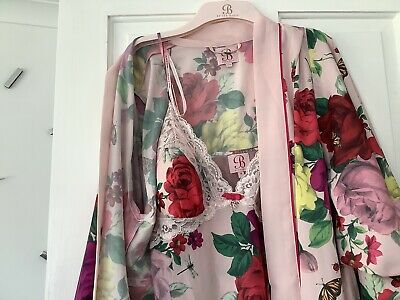 AU46.12 • Buy Ted Baker Two Piece Set Dressing Gown & Nightdress Fab Condition Size 14💕
