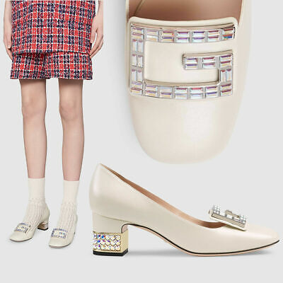 AU840.52 • Buy Gucci Shoes Madelyn Pumps Crystal G Buckle Leather $1,250 It 37 Us 7