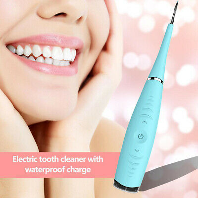 £11.99 • Buy Electric Sonic Dental Scaler Tartar Calculus Plaque Remover Teeth Stains Cleaner