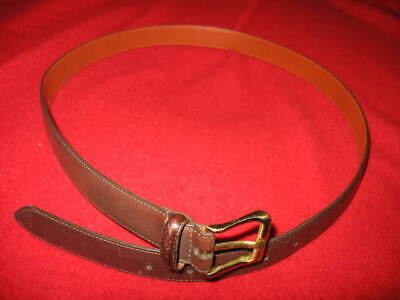 $35 • Buy Coach Men's Leather Belt, Size: 44 , Color: Brown & Brass, Used, Value:$ 125.00+