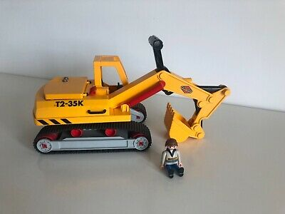 £15 • Buy Playmobil Digger 3001 Excavator Construction Tracks Heavy Duty Toy Play Builder