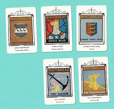 £7 • Buy Whitbread's Inn Signs: Lot Of 5 Cards