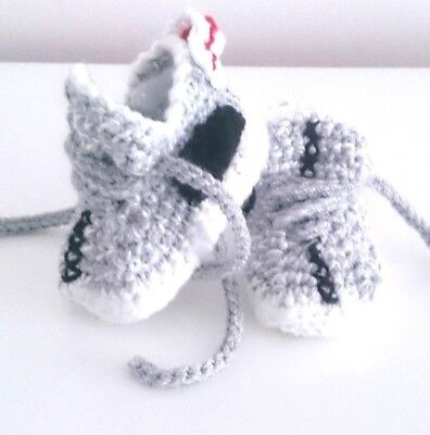 £5.99 • Buy Baby Crochet Knitting Hand Shoes Trainers Sneakers Clothes Socks Hats Caps Boots