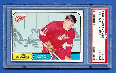 $49.99 • Buy 1968 OPC HOCKEY # 143 PETE MAHOVLICH Red Wings PSA 6 EX-MINT