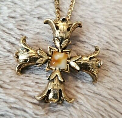 £18.99 • Buy Vintage Miracle Necklace Chain Pendant Scottish Celtic Cross Signed