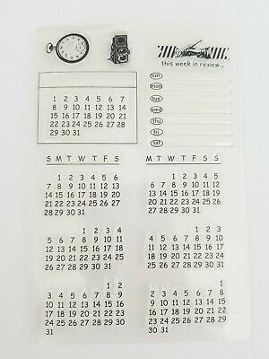 £6.50 • Buy 13 Calendar Clear Stamp-dates-diary Planner-days/weeks/month-calender-stamps Uk
