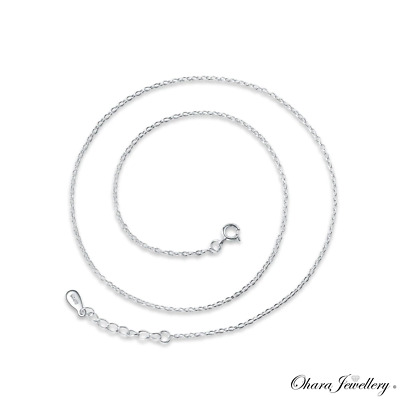 £2.99 • Buy 925 Solid Sterling Silver 18 Inch 45cm Adjustable 1.5mm Chain Necklace Jewellery