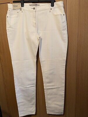 £7.50 • Buy Next Off White Jeans 16 Long Relaxed Skinny