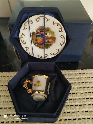 £12 • Buy The Regal Bone China Collection. Miniature COUNTRY SCENE STYLE  CUP & SAUCER.