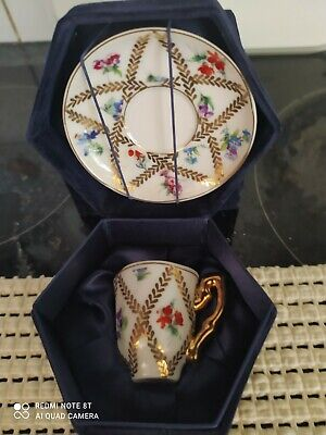 £12 • Buy The Regal Bone China Collection. Miniature CUP & SAUCER FLORAL With GILT Boxed.