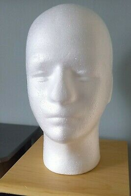 £5.99 • Buy Dummy Head- Wig Stand- Hat- Cap-display-polystyrene Model-male-femaile-mannequin