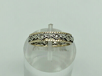 £79.99 • Buy Gorgeous Vintage 1976 9ct Yellow & White Gold Spinel Eternity Band Ring Size M