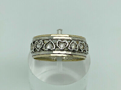 £64.99 • Buy Gorgeous Vintage 9ct Gold & Sterling Silver Spinel Eternity Band Ring Size Q
