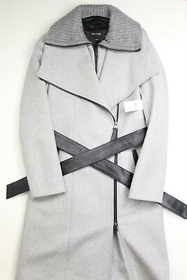 $299.99 • Buy Mackage Womens Nori Belted Wool Blend Coat XS Extra Small Grey Black