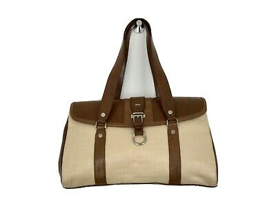 £7.20 • Buy DICE Ladies Briefcase Bag Beige / Brown Brand New Without Tag