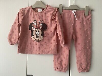 £4.50 • Buy Disney Baby Minnie Mouse Thin Knit Tufted Spot Tracksuit Outfit Set 12-18 Months