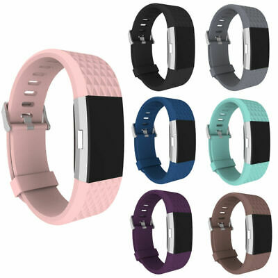 AU3.79 • Buy Fitbit Charge 2 3 4 Replacement Strap Band Bracelet Silicone For ActivityTracker
